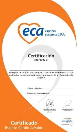 Certificado Evento Cardio Asistido